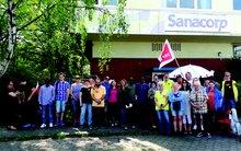 Warnstreik am 18. Mai 2017 bei Sanacorp