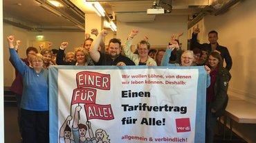 Warnstreik bei Rewe/Penny in Hamburg