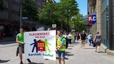 Aktion Karstadt-Kaufhof, Hamburg, Juni 2019
