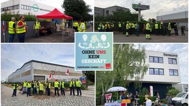 Streik im Hamburger Groß- und Außenhandel