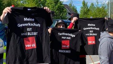 Streikende am 14. Mai 2021 in Anzing