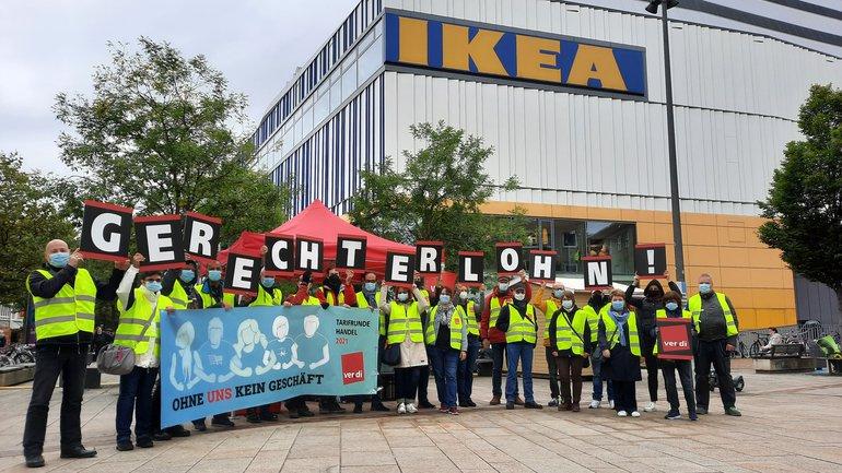 Streik bei IKEA bundesweit - auch in Hamburg